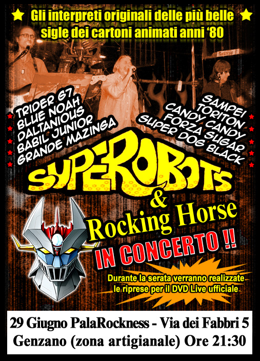 Superobots rocking horse in concerto