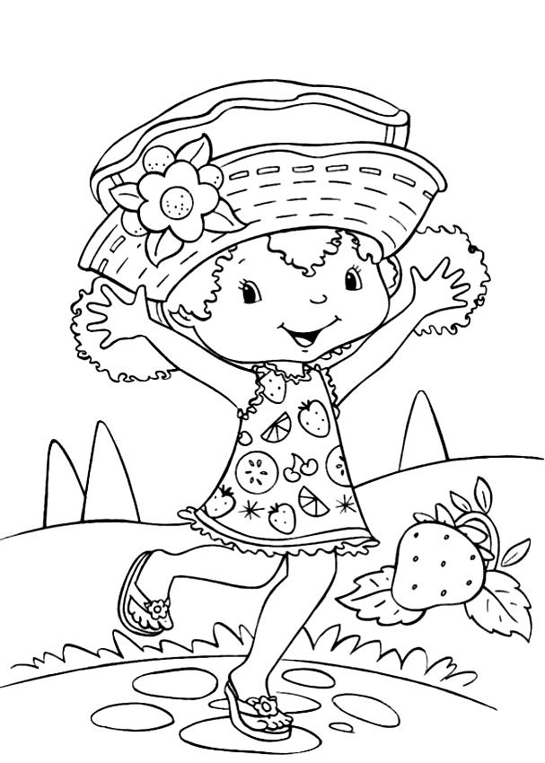Desenhos De Laranjinha Amiga De Moranguinho Para Colorir