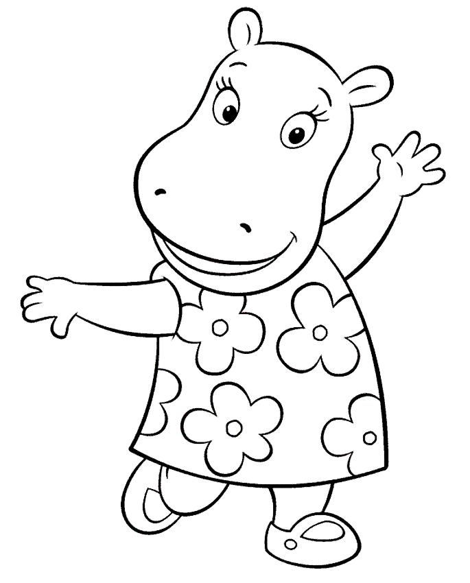 Desenhos De Tasha O Hipopotamo De Os Backyardigans Para Colorir