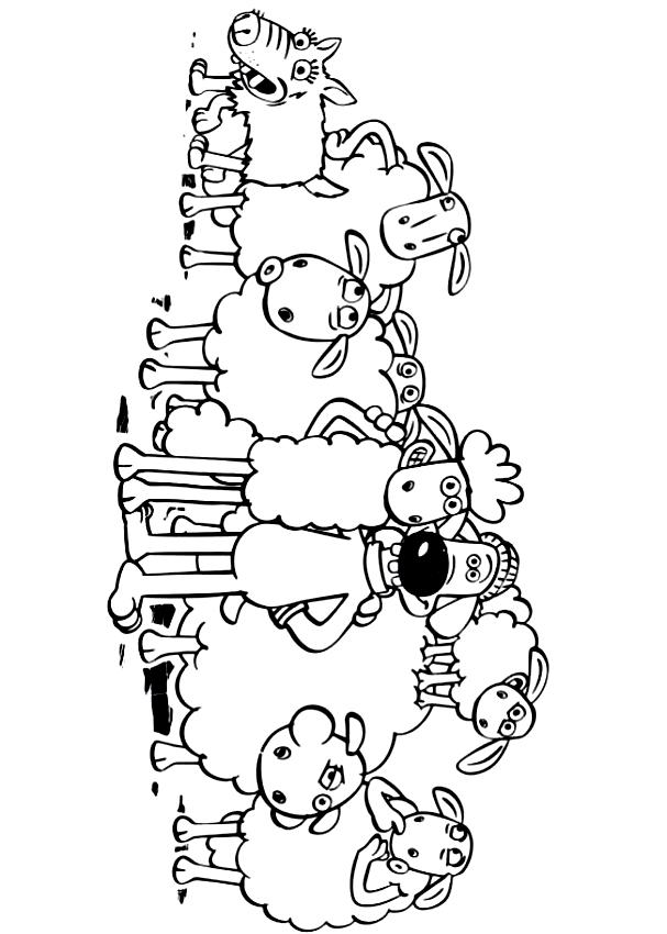 Desenhos De Shaun Bitzer E The Ovelhas Para Colorir