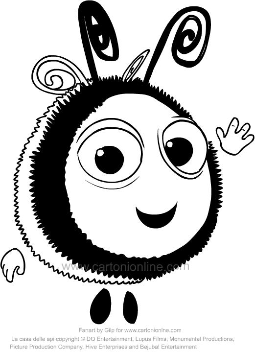 Desenho de Buzzbee de A Colmeia Feliz para impress oe colorir