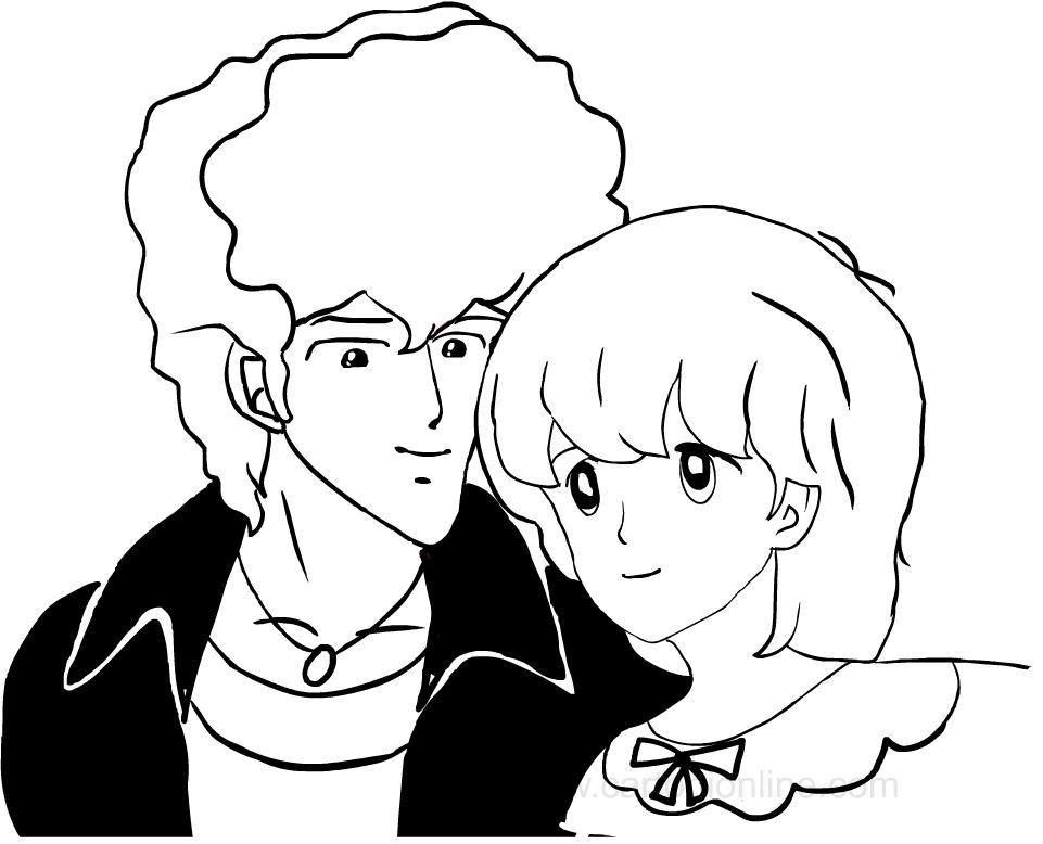 Desenho de Ai Shite Knight para impress oe colorir