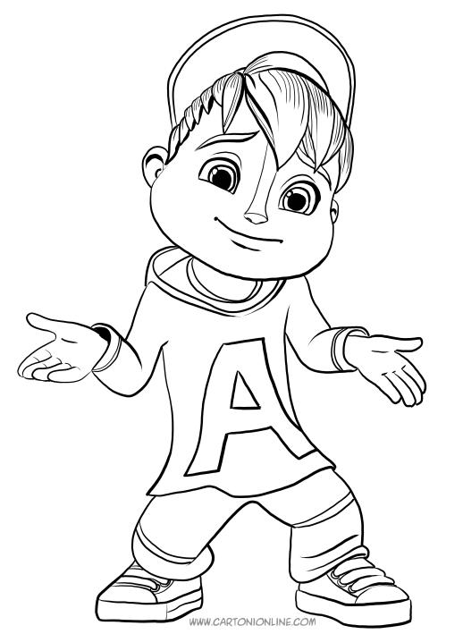 Desenho De Alvin Para Colorir