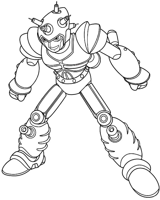 Desenho De Atlas O Robo Do Mal Construido Pelo Professor Ram Para