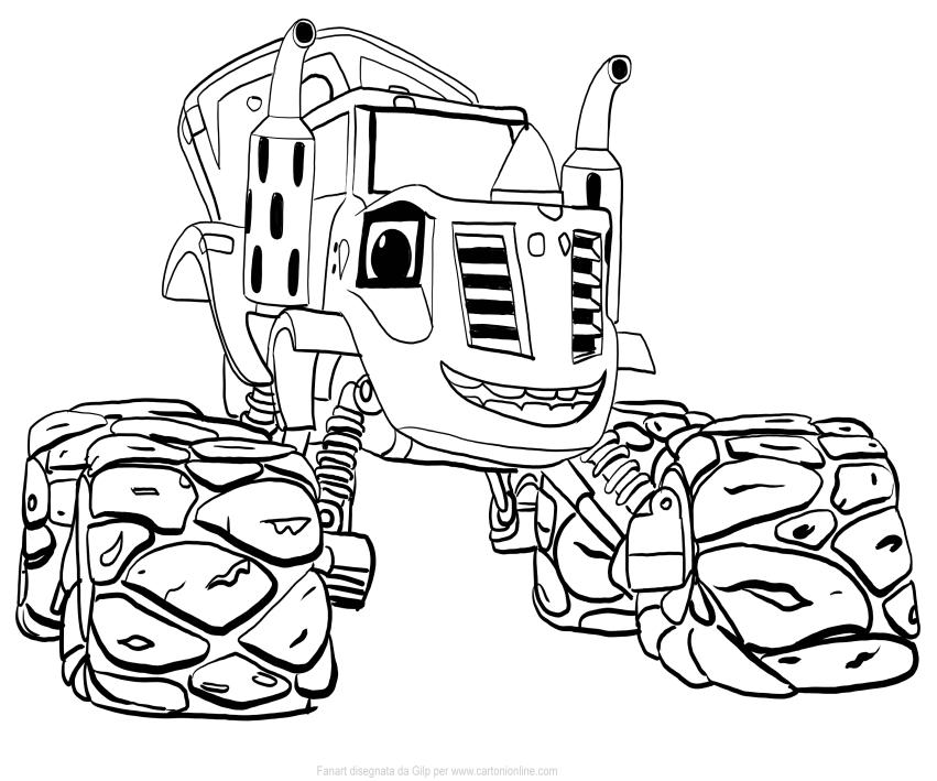 Desenho De Zeg De Blaze E As Monster Machines Para Colorir
