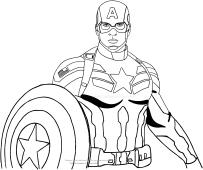Desenhos Do Capitao America Para Colorir