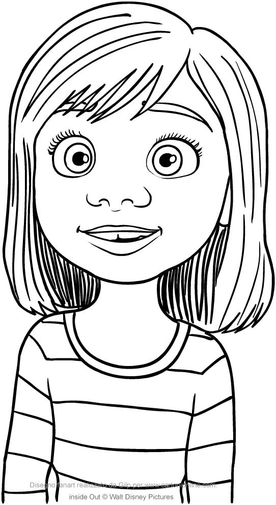 Desenho De Riley Andersen Divertida Mente Para Colorir