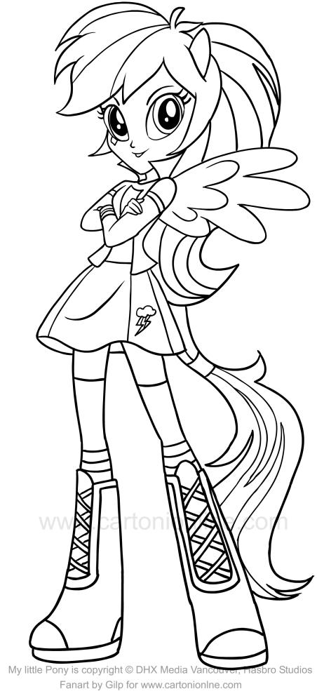 Desenho De Rainbow Dash Equestria Girls Dos My Little Pony Para