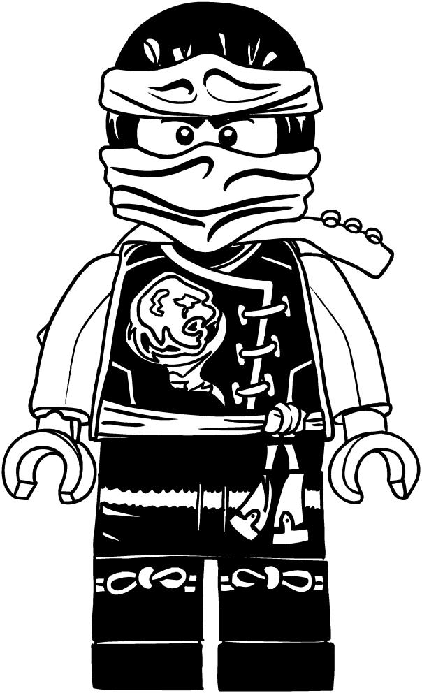 Desenho De Cole Dos Ninjago Para Colorir
