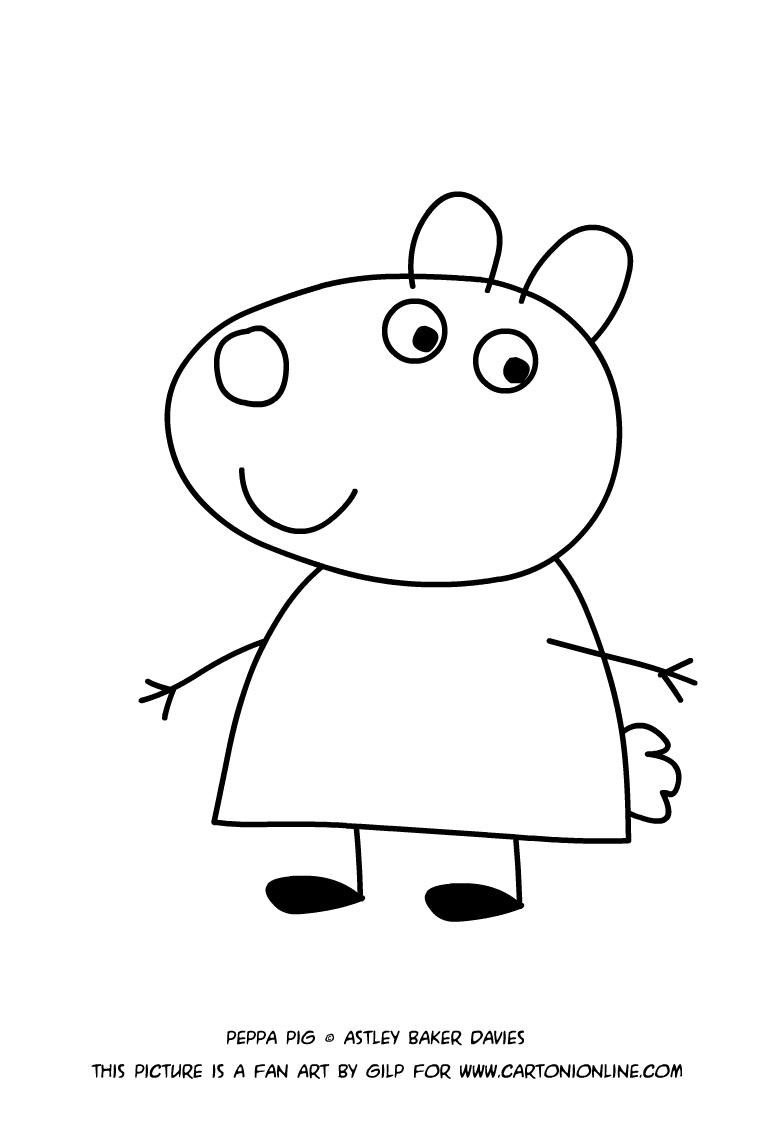 desenho de susie ovelha para colorir