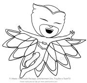 Desenho de Corujita exultant
