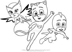 Desenho para colorir dos PJ Masks-Her is de Pijama