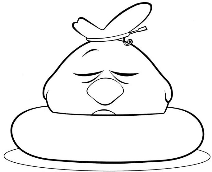 desenho de ronfotto ou passarinho azul que dorme para colorir