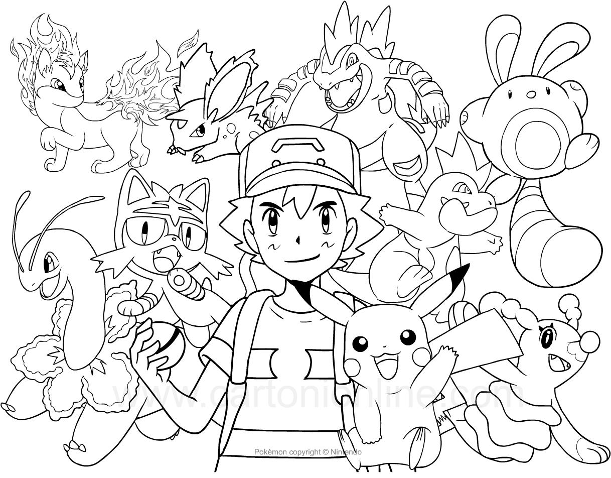 Desenho Dos Pokemon Para Colorir
