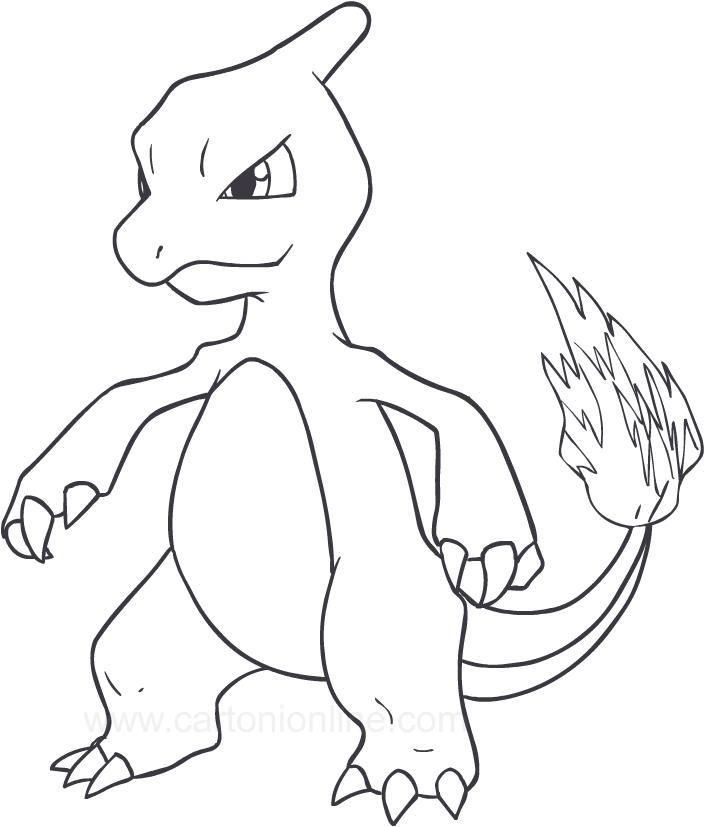 Desenho De Charmeleon Dos Pokemon Para Colorir