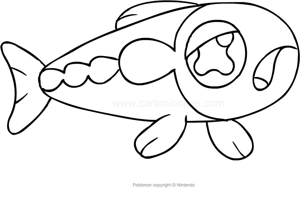 desenho de wishiwashi dos pokemon para colorir