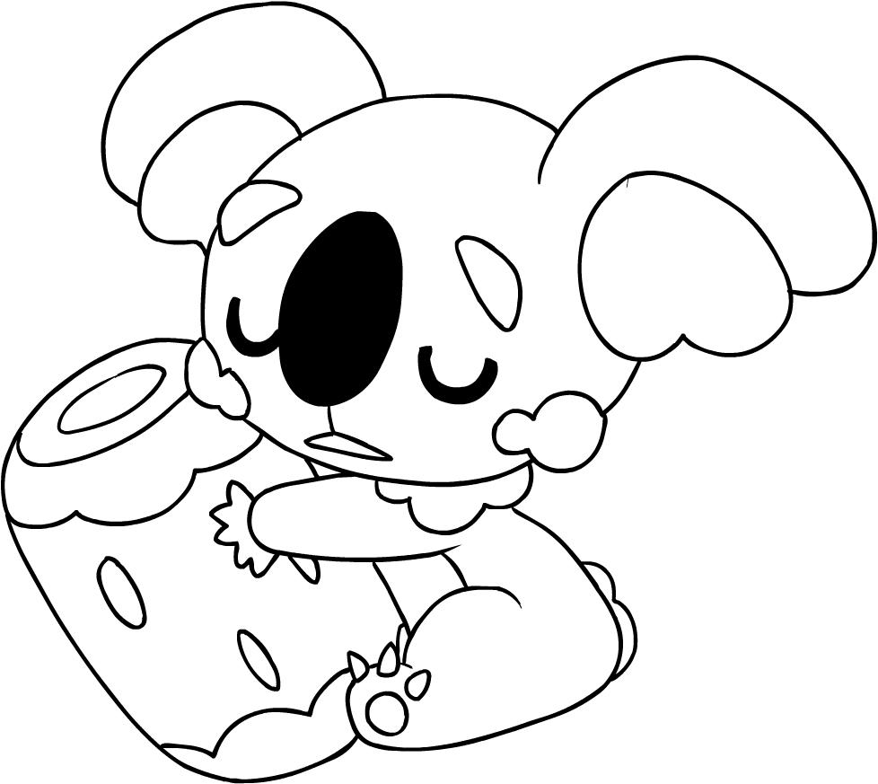 Desenho De Komala Dos Pokemon Sol E Luna Para Colorir