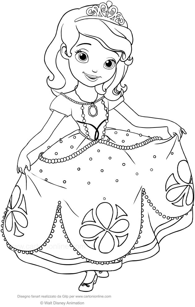 Desenho De Princesinha Sofia Para Colorir