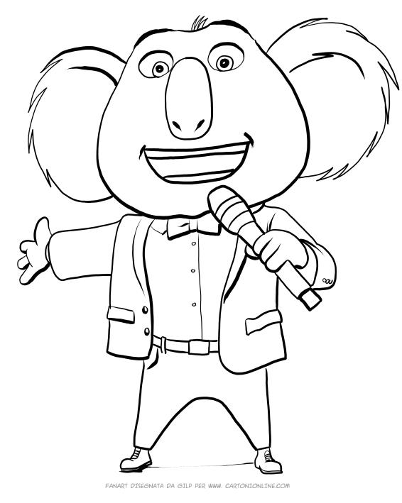 Desenho De Buster Moon O Koala De Sing Para Colorir