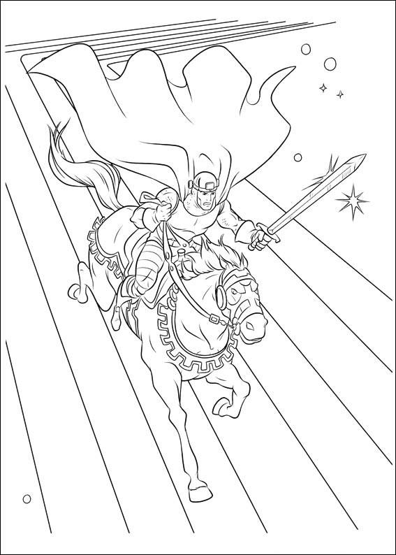 Desenho De Balder Fiel Amigo De Thor Para Colorir