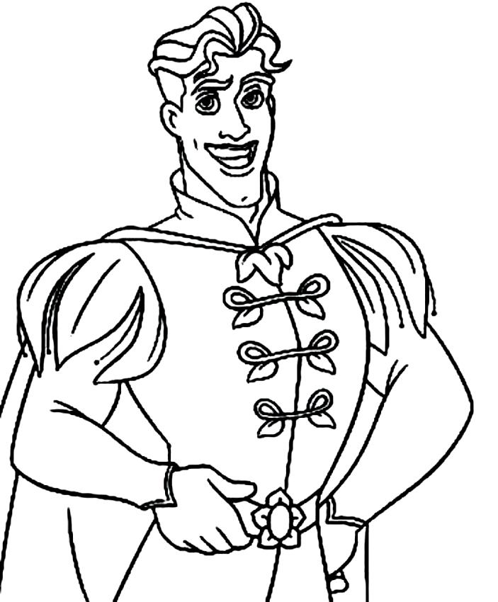 Desenhos De The Principe Naveen De A Princesa E O Sapo Para Colorir
