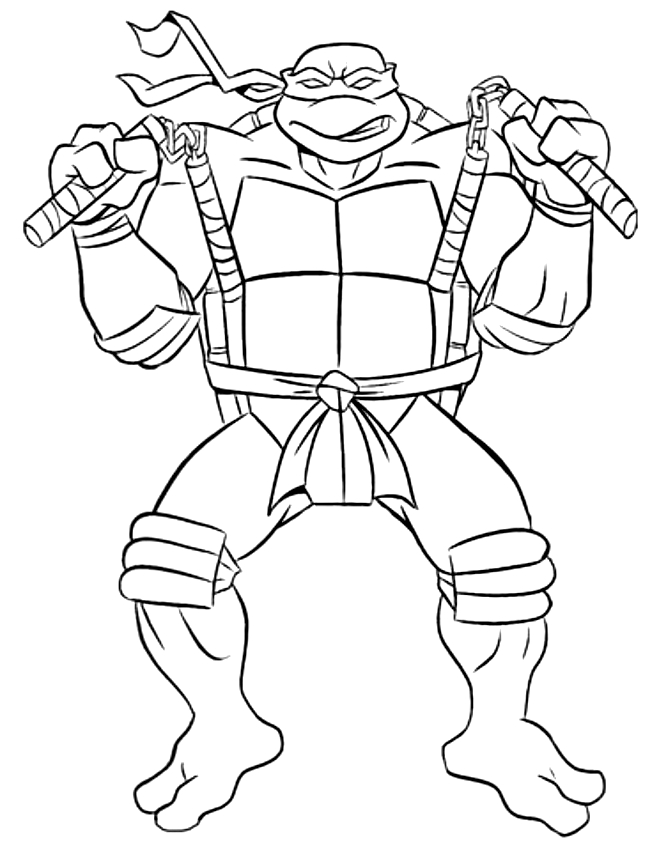 Coloriage De Michaelangelo De Tortues Ninja