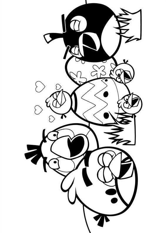 Coloriage de AngryBirdsはimprimeret colorier