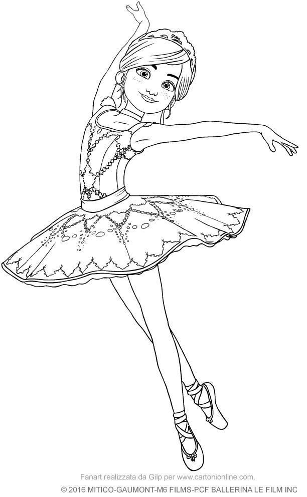 Coloriage Dessin Anime Ballerina.Coloriage De Felicie Ballerina