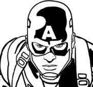 Dibujos para colorear Capitán América