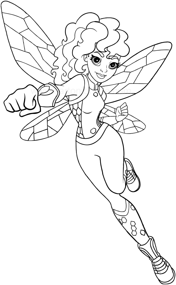 Coloriage De Bumblebee Dc Superhero Girls