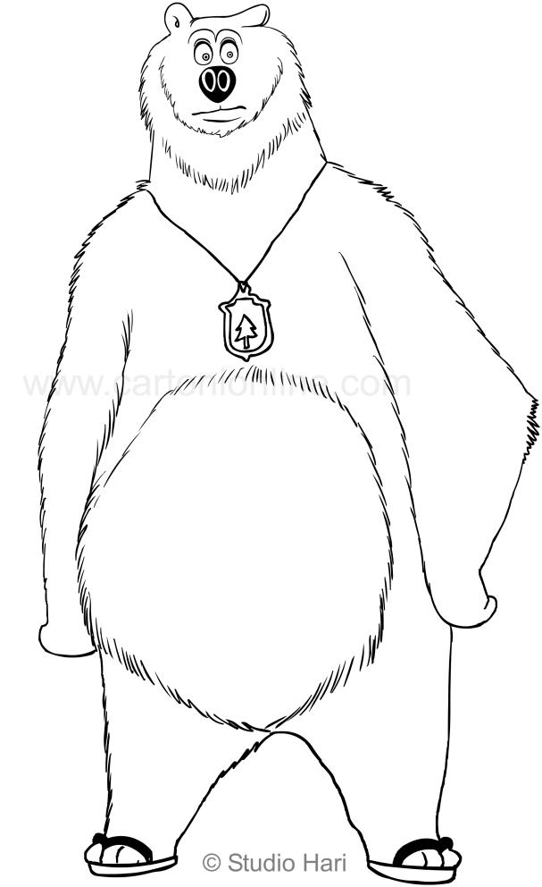 Les coloriages de Grizzy l'ours is imprimer et colorier