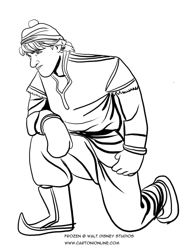 Les coloriages de Kristoff는 Genoux입니다.