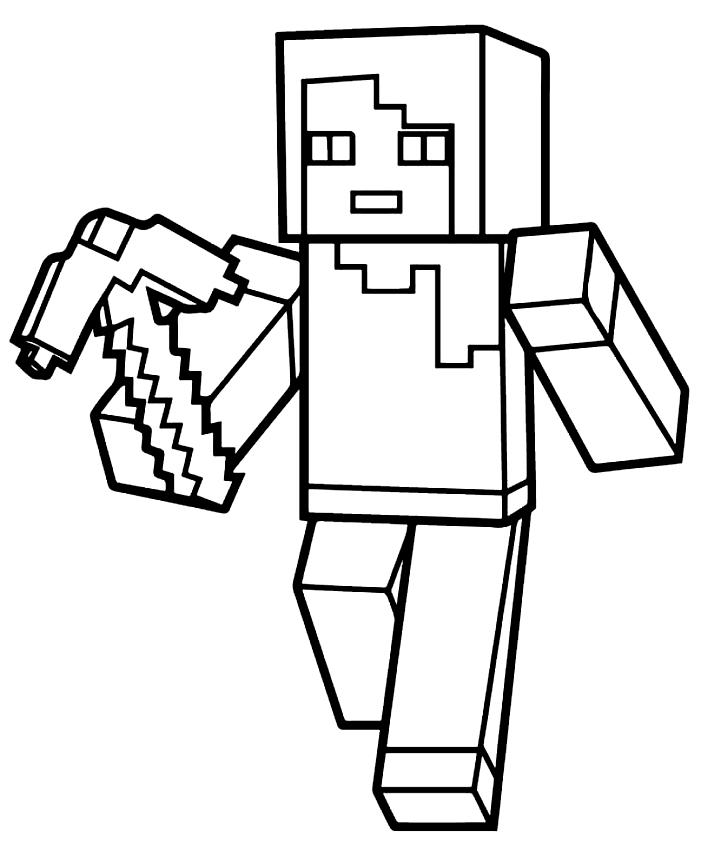 MinecraftのColoriagede Villicoは、imprimer etcolorierです。