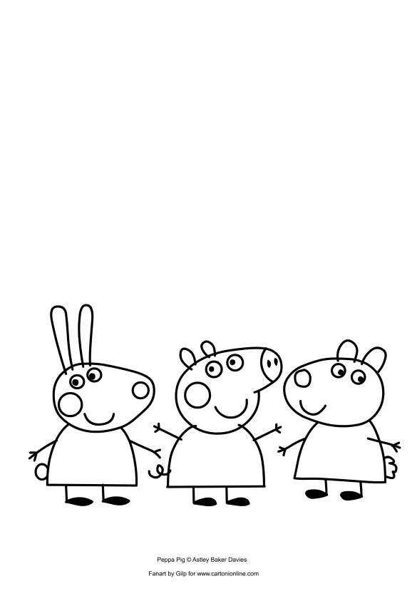 Peppa Pig、Rebecca Rabbit et Suzy Sheep
