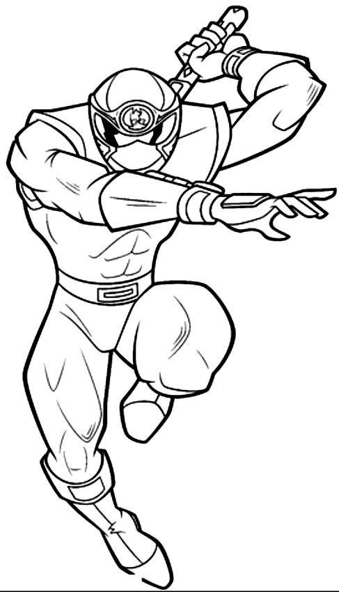 Coloriage De Power Ranger Bianco Dei Power Rangers