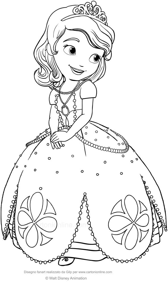 Les coloriages de Princesse Sofia is imprimer et colorier
