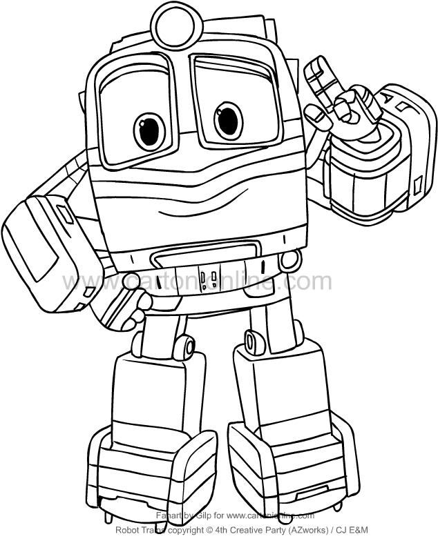 Coloriage De Alf De Robot Trains