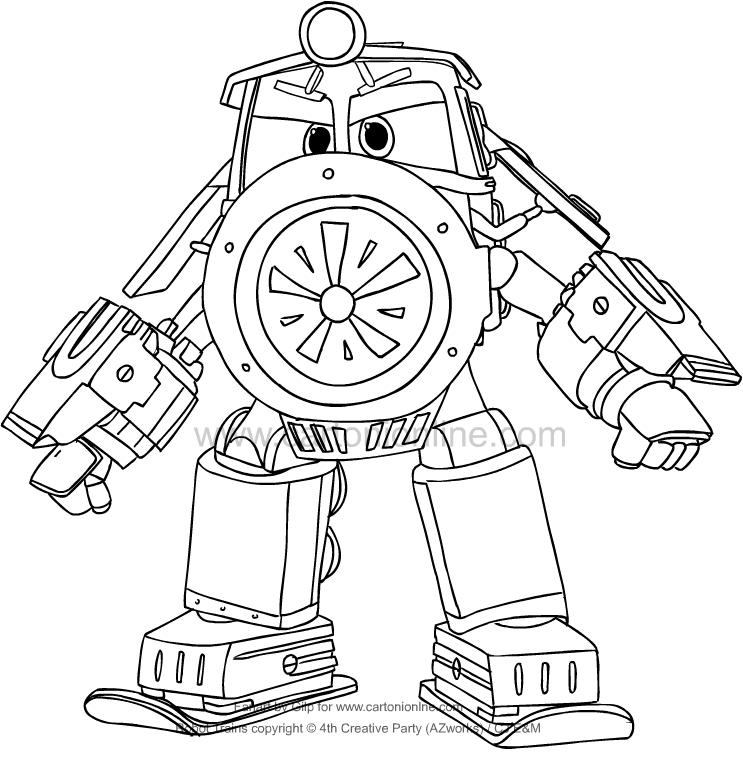 Coloriage De Victor De Robot Trains
