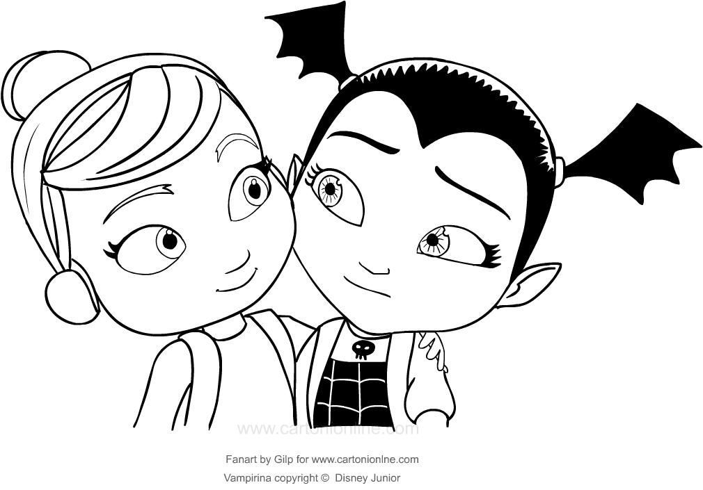 Coloriage A Imprimer Vampirina.Coloriage De Vampirina Et Son Amie
