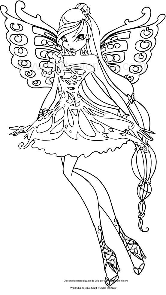 Les coloriages de Musa Butterflix(Winx Club)はimprimer et colorier
