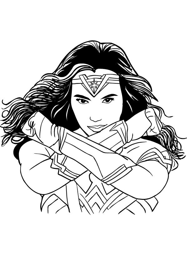 Coloriage De Wonder Woman Gal Gadot