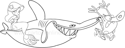 Les Coloriages De Zig E Sharko
