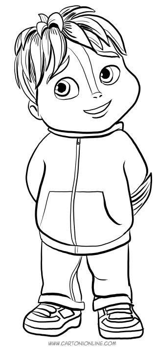 Dibujo de Theodore para colorear