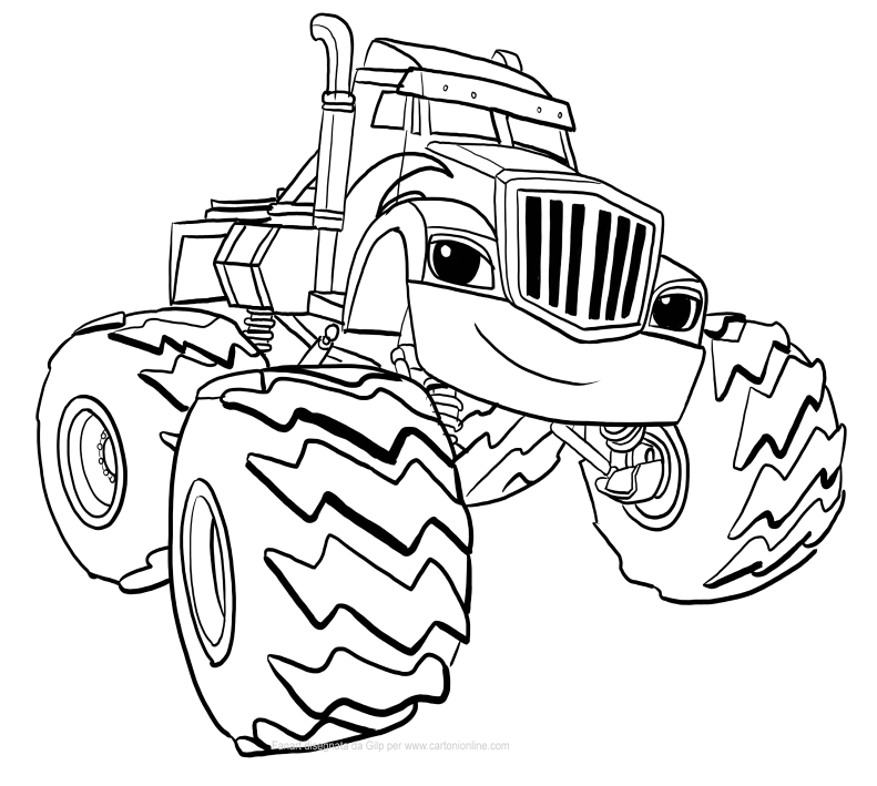 Dibujo de Crusher de Blaze y los Monster Machines para colorear