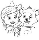 Dibujos De Goldie Y Osito Para Colorear