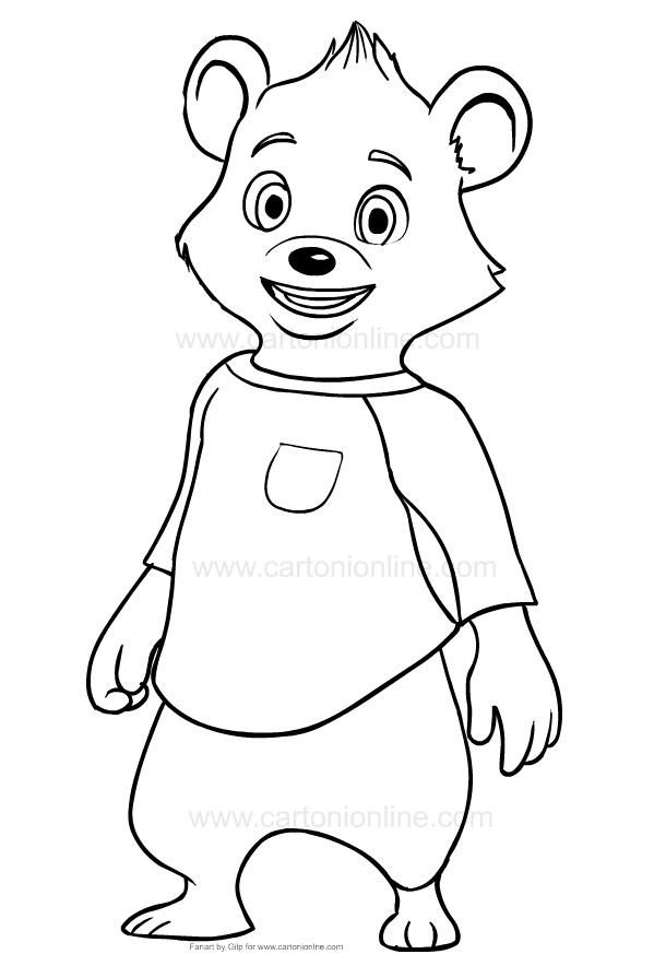 Dibujos De Bear Goldie Y Osito Para Colorear
