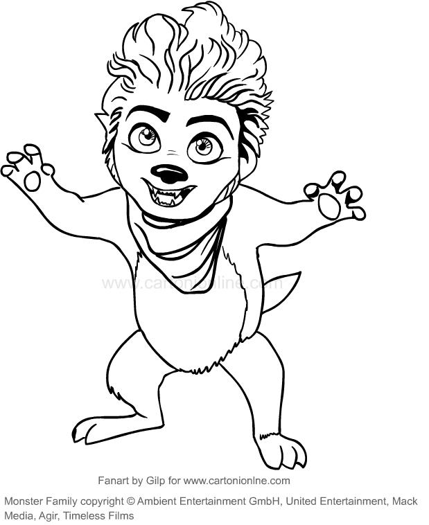 Dibujo De Max El Hombre Lobo La Familia Monster Para Colorear