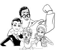 Dibujos De La Familia Monster Para Colorear