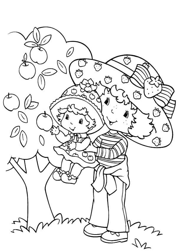 Dibujos De Compotita Lupita Manzanita Y Tarta De Fresa