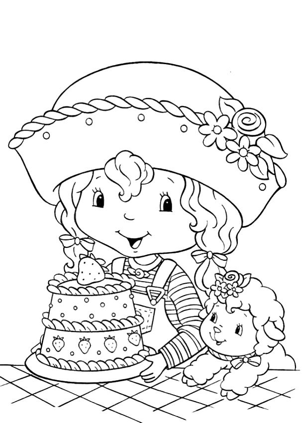 Dibujos De Lety Ciruelita L Amiga De Tarta De Fresa Rosita
